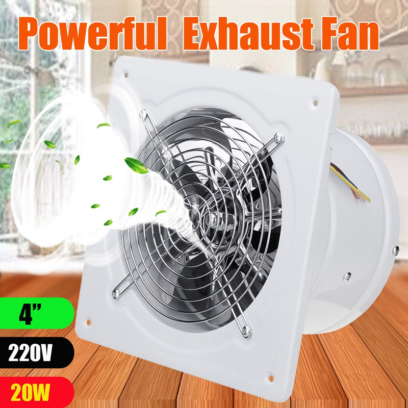 Useful Warmtoo 4 Inch 20w 220v White High Speed Exhaust Fan Kitchen Bathroom Duct Booster Fan Exhaust Blower Air Cleaning Cooling Vent