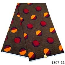 6 yards african fabric wholesale wax 100% polyester ankara design print 1307-1