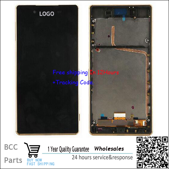 Original quality 100% new White Black For Sony Xperia Z4  LCD display+Touch screen Panel Digitizer with frame 5pcs lot official original new a quality screen for 6s lcd display black white