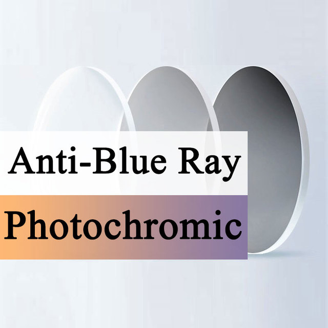 Anti Blue Light and Photochromic Grey Optical Lens Myopia Presbyopia Scratch resistant 1.56 1.61 1.67 Index