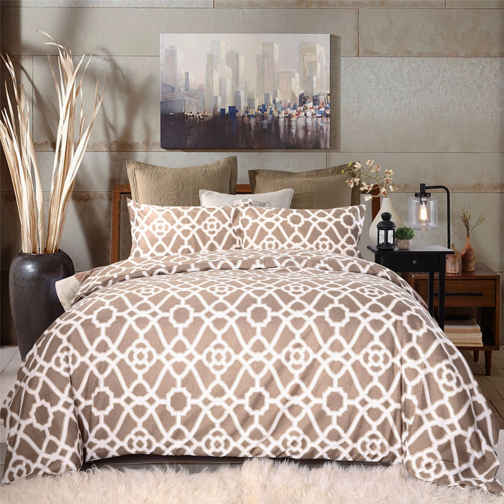 geometric quilt duvet itm pillowcase cover bed new modern amp contemporary bedding set