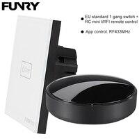Original Funry EU Standard 1 Gang 1 Way Switch Remote Control WIFI APP Control Light Switch