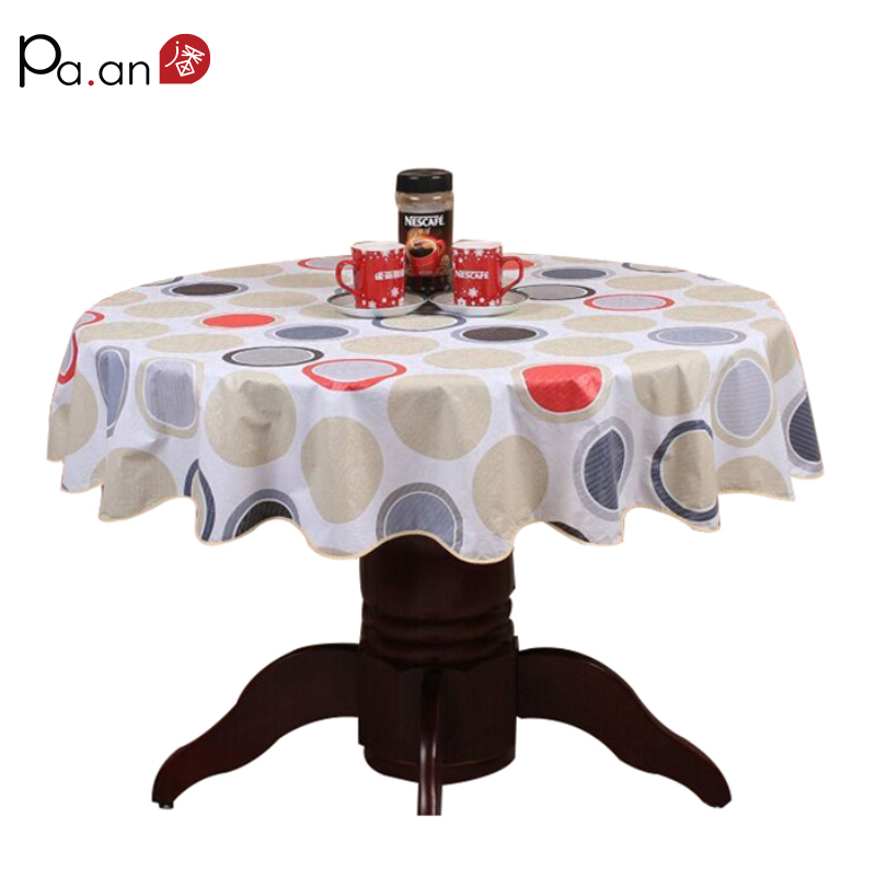 Pastoral Plastic Round Tablecloth PVC Oil Proof Waterproof Romantic Florals Printed Table Cover Wedding Decoration Table Clothes
