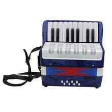 1 шт. 17 ключ 8 бас маленький аккордеон развивающий музыкальный инструмент игрушка для детей раннего обучения синий подарок