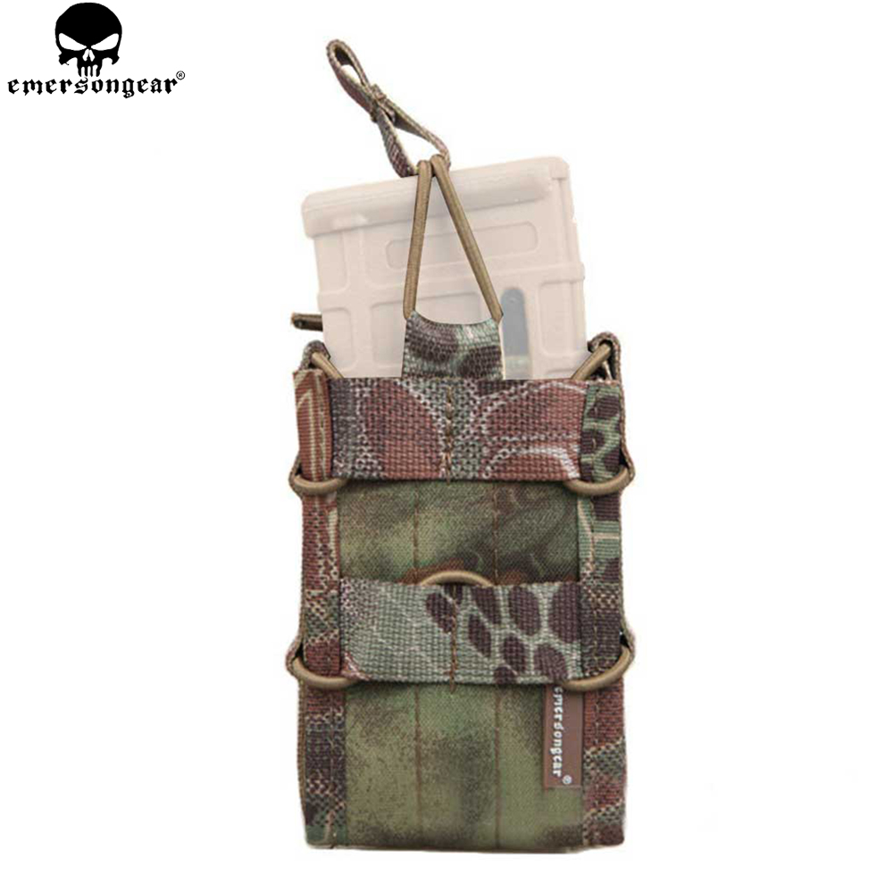 Hunting Symbol Of The Brand Emersongear Single Unit Magazine Pouch Military Molle Pouch Vertical Accessories For M4/m14/ak/g3/g36 Highlander Em6345 Sports & Entertainment