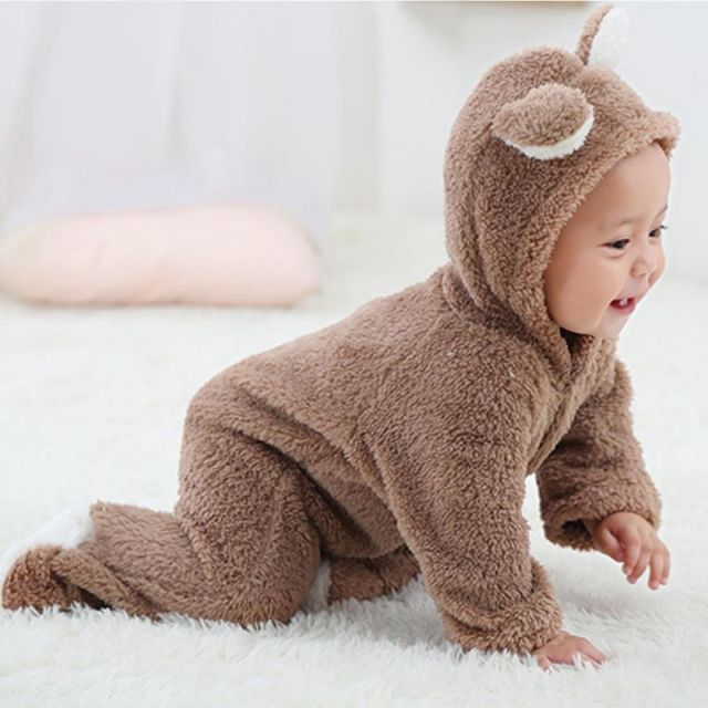 3136355ca7bd Spring Autumn Baby Clothes Flannel Baby Boy Clothes Cartoon Animal ...