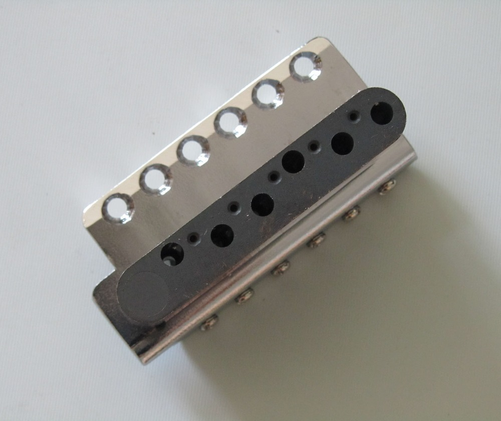 US $49 35 |Wilkinson Chrome Strat Tremolo Bridge WVCSB with Steel Block &  Vintage Saddles-in Guitar Parts & Accessories from Sports & Entertainment  on