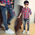 2016 Brand New boys jeans Children casual pants baby jeans kids trousers Retails 2-14 yrs boys jeans plus size hot sale