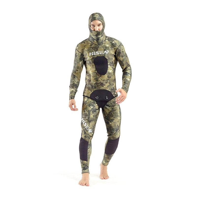 SEAC 7mm Professional Winter Warm Wetsuit Men's Long Sleeve Neoprene Diving Suit Rash Guards Fishing Suit Jellyfish Clothes seac sub гарпун seac нерж сталь для пневматического ружья asso 50