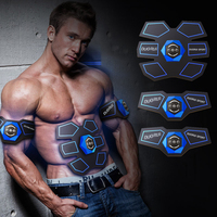 Hot Abdominal Muscle Exerciser Belt Smart EMS Stimulator Fitness Gear Battery Abs Fit Muscles Intensive Training Equipment