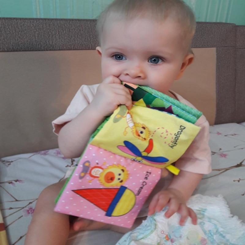 8/10 halaman bayi gemerincing menggerakkan mainan buku haiwan lembut - Mainan untuk kanak-kanak - Foto 2