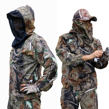 Summer Ultra-Thin Bionic Camouflage Suit Anti-Mosquito Fishing Hunting Clothes Tactical Ghillie Suit Jacket Pants Set 2