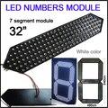 """32 """"cor branca módulo números digita, segmento 7, Alto brilho led chip, display led de contagem regressiva, pontuação led, controle remoto"""