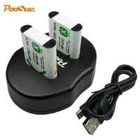 2Pcs NP-BX1 battery Pack NP BX1 NPBX1+Dual bateria charger For Sony NP-BX1 HDR-AS200v AS15 AS100V DSC-RX100 X1000V WX350 RX1