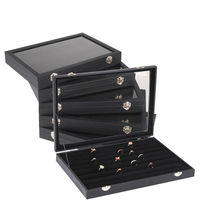 Jewelry Ring Earring Bracelet Necklace Display Organizer Storage Case PU Box