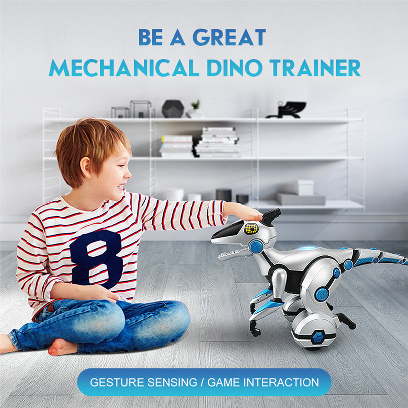 Electronic Pets RC Mechanical Dinosaur Intelligent Voice Balancing Children's Game interaction Dinosaur Kids toy High Quality A1