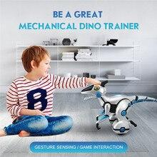 Электронные Домашние животные RC механический динозавр Интеллектуальный голосовой нагрузки детская игра взаимодействия динозавров Детские игрушки высокое качество A1