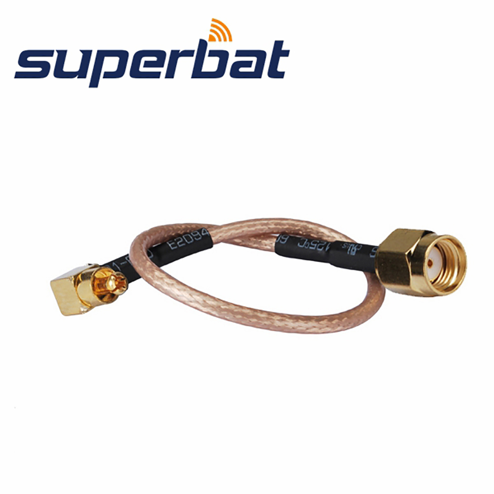 Superbat RP-SMA Male Plug (Female In) To MC-Card Plug Pigtail Cable China Manufacturer Wholesale Price RG316 15cm