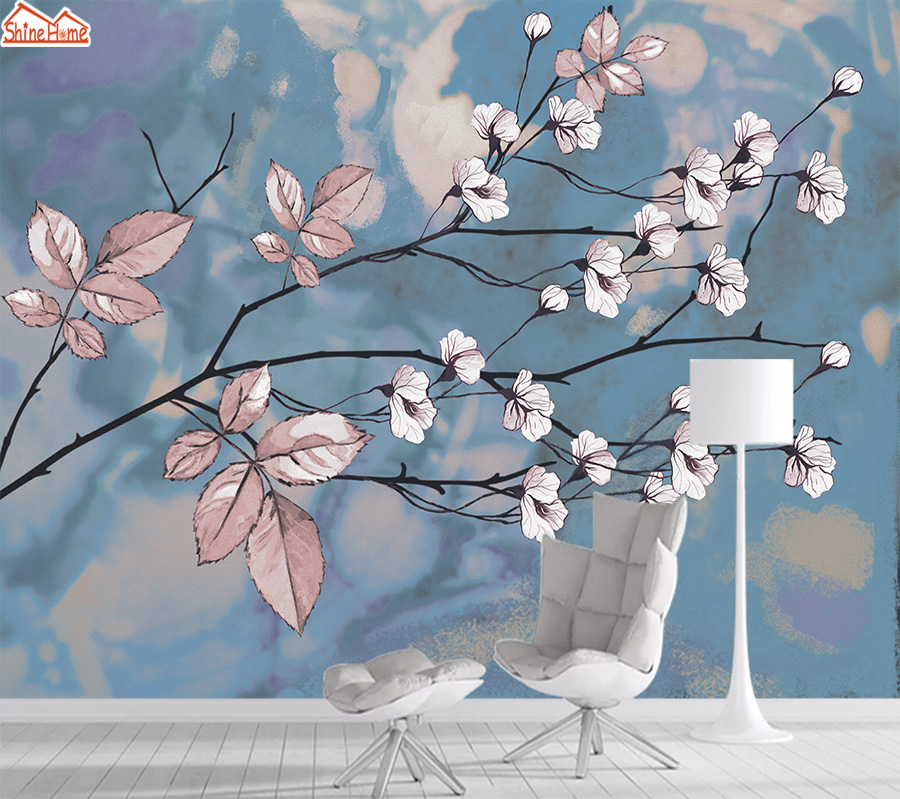 8d Photo Nature Floral Mural Wallpaper 3d Wall Paper Papers Home Decor Wallpapers For Living Room Self Adhesive TV Murals Rolls