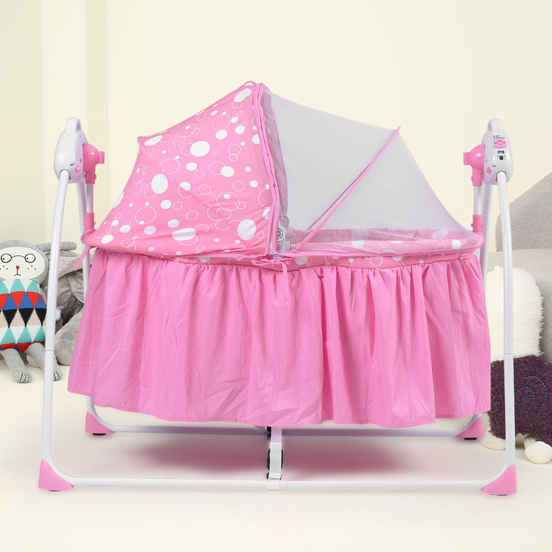 New Arrivals Multifunctional Electric Baby Cradle Baby Crib Portable Folding Newborn Sleeping Cradle With Music And Mosquito Net fashion electric baby crib baby cradle with mosquito nets multifunctional music baby cradle bed