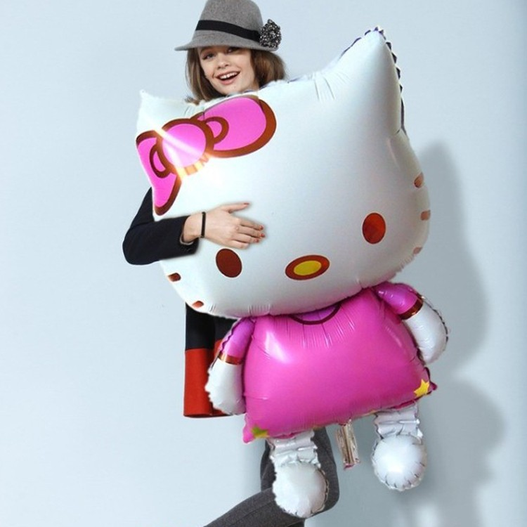 1PCS 70*114cm Giant Big Size Pink Kitty Helium Foil Balloon, Birthday Toys Party