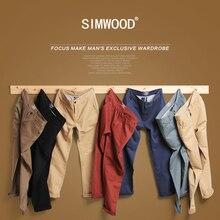 Simwood тонкие карманные прямые повседневная бренд мужские осень зима мужчин плюс