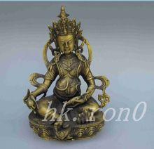 Tibet Buddhism Silver Bodhisattva Four-armed Avalokiteshvara Buddha