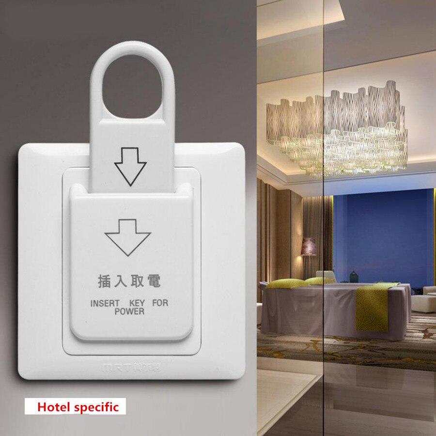 1 Pcs Exit-button 86x86 Hotel Schlüssel Karte Schalter Rutsche Swich Push-taste Ausfahrt Access Control Elektrische Power Control Buchse Starke Verpackung