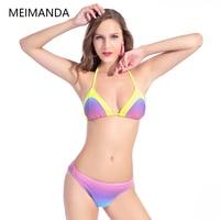 Meimanda New Sexy Swimsuit Bikinis Set Brazilian Triangle Backless Bathing Suit Beach Wear Cut Trikini Swimwear