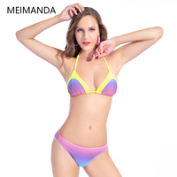 Meimanda New Sexy Swimsuit Bikinis Set Brazilian Triangle Backless Bathing Suit Beach Wear Cut Trikini Swimwear