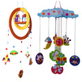 4pcs children DIY handmade EVA hanging Ornaments toys/ Kids 3D Wind chime stickers for baby bed room decoration educational toys