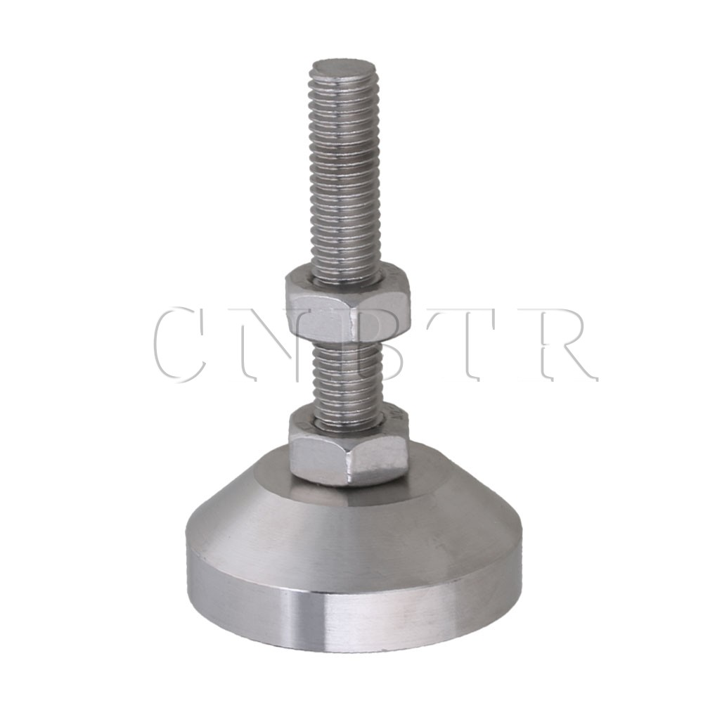 CNBTR 50mm Dia Stainless Steel Adjustable Joint Screw Table Feet M10 Thread ...