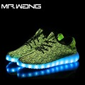 Brand MenNew 7 Colors luminous shoes unisex LED glow shoe men  fashion USB rechargeable men light shoes DD-60