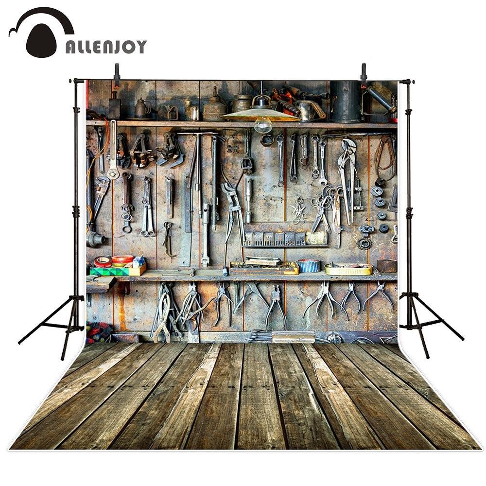 Allenjoy fotografia backdrops ferramentas na garagem do pai crianças fundo para estúdio de fotos