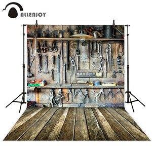 Image 1 - Allenjoy צילום תפאורות סדנה כלים מחסן ישן עץ קיר ילדי רקע תמונה סטודיו שיחת וידאו photophone