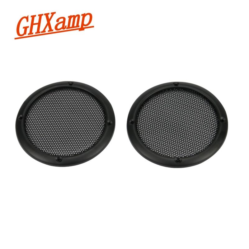 GHXAMP 3 Inch 92mm Speaker Grilles Net Cover FULL Metal Speaker High-grade Metal Mesh Enclosure Speaker Grill 2PCS