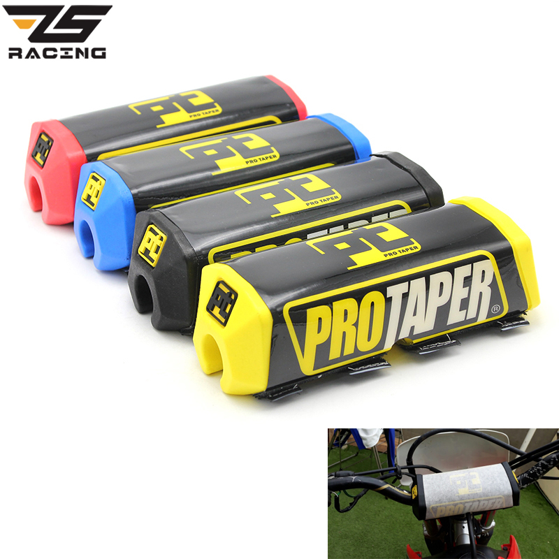 ZS-Racing Pro Taper Handlebar Bar Pad Fat Bar Pad Chest Protector Cross Bar Fit 1-1/8 Handle Bar Motorcycle Dirt Bike Pit Bike bar