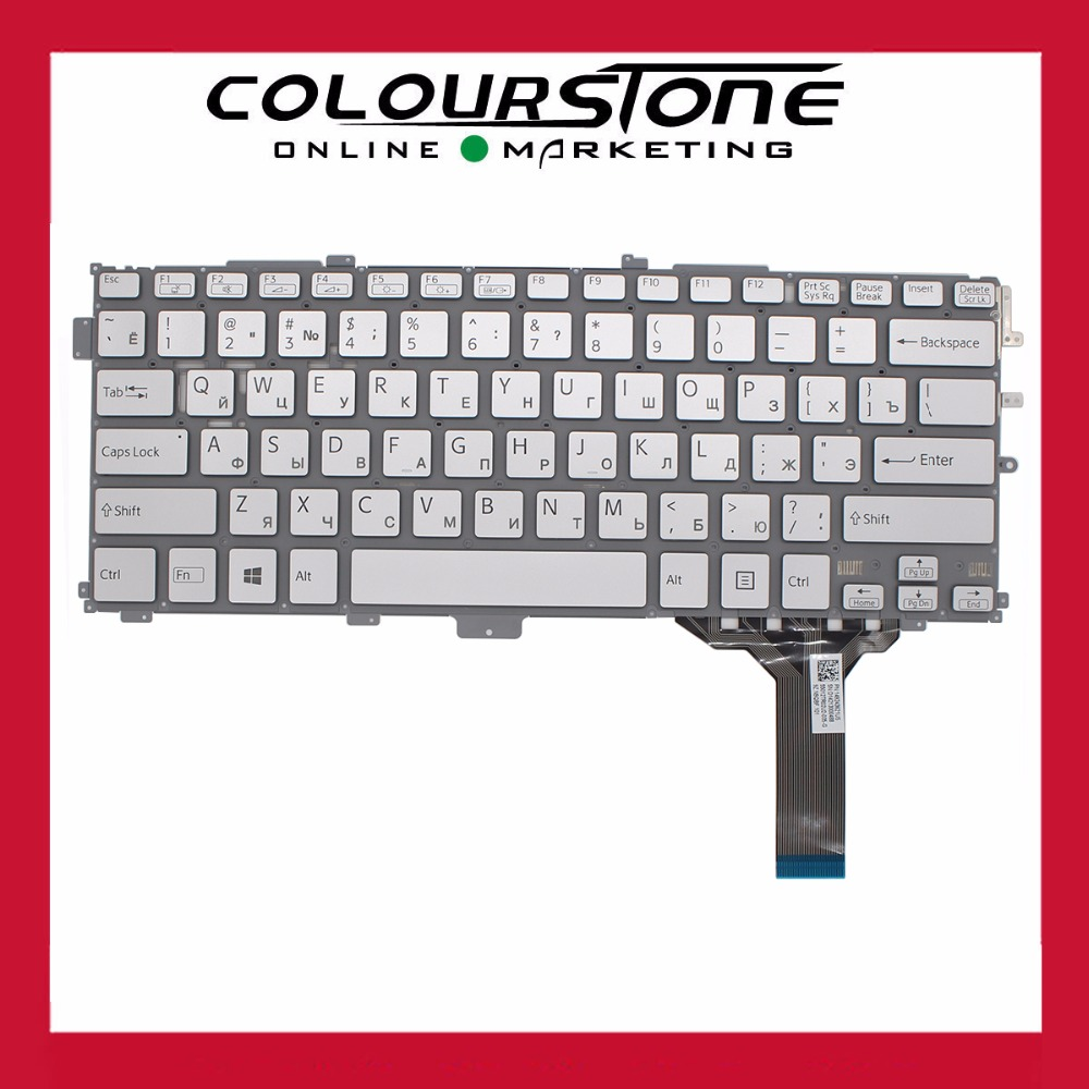 New RUSSIA silver laptop keyboard for Sony VAIO Pro 13 Ultrabook SVP13 SVP1321 SVP132A16L SVP132A1CL Service Laptop for sony vpceh35yc b vpceh35yc p vpceh35yc w laptop keyboard