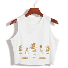 """""""Plants are friends"""" Women's Sexy top tank shirt / 3 colors"""