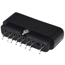 Substituição de conector de 9 pinos 90 graus, conector fêmea, slot de soquete para console ps2, acessório de playstation 2, com 10 peças