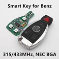 (Для BENZ) Car Smart Remote Key 3 + 1 Кнопки 315 МГц 433 МГЦ для Mercedes NEC Чип BGA stytle 2000 +