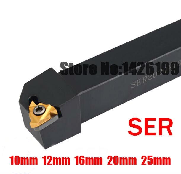 SER1010H11 SER1212H11 SER1212H16 SER1616H16 SER2020K16 SEL2020K16 SER2525M16 SEL1616H16 CNC ferramenta de Tornear rosca Externa da haste