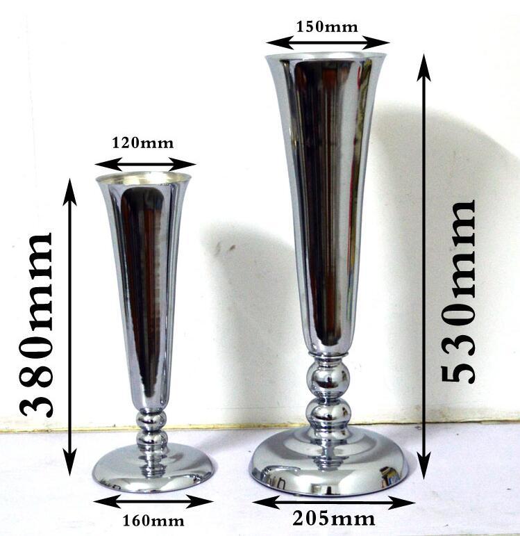 H38 53cm L size metal flower vase for home decoration accessories large floor vases for wedding