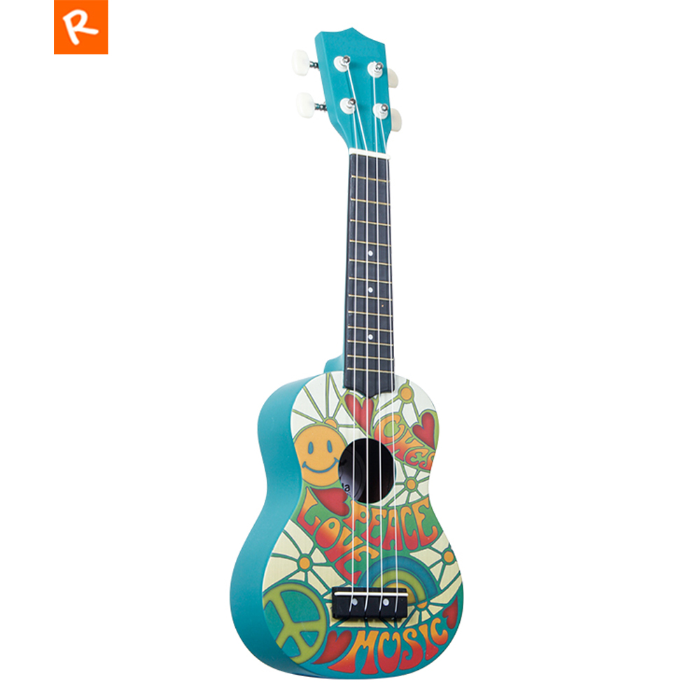 21 inch Ukulele Soprano Green Colorful Cartoon Flower Hawaii Guitar Ukulele 4 string Mini Guitar for Kid Gifts UK215021 inch Ukulele Soprano Green Colorful Cartoon Flower Hawaii Guitar Ukulele 4 string Mini Guitar for Kid Gifts UK2150