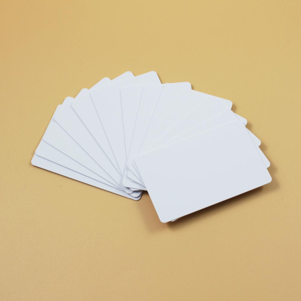 Prix pour 100 Blanc Imprimable PVC En Plastique Photo id Blanc Carte de Crédit Mil CR80 livraison gratuite