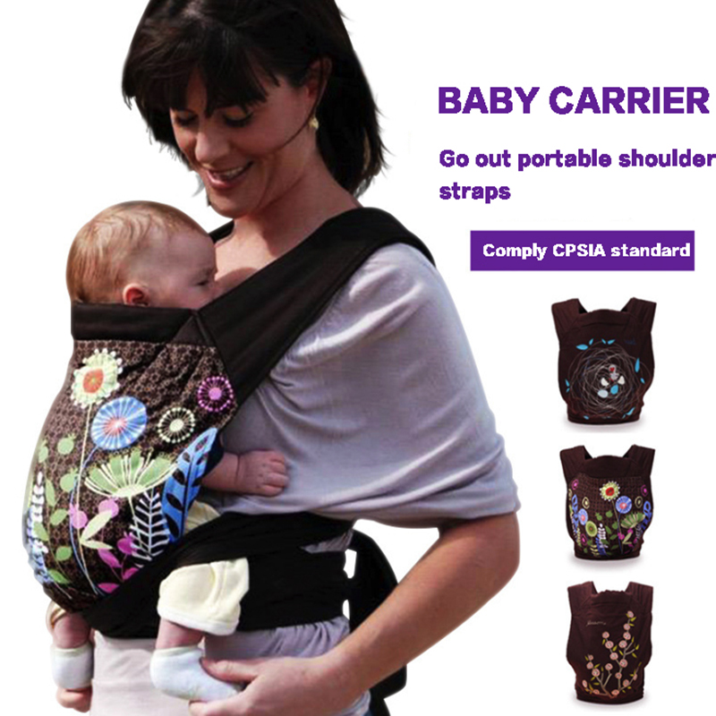 цена Baby Carriers Face To Face Back Carry Maternal Supplies 2 in 1 Cotton Sling Kid Activity Gear Portable Backpacks Shoulder Straps