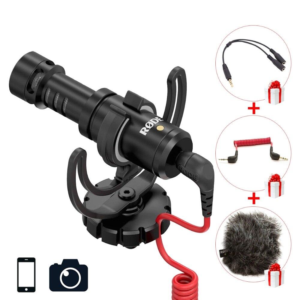Ulanzi Original Rode VideoMicro On Camera Microphone for Canon Nikon Lumix Sony Smartphones Free Windsheild Muff