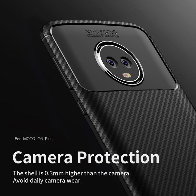 Moto G6 Case IPAKY- ի համար Moto G6 Plus Case Silicone TPU - Բջջային հեռախոսի պարագաներ և պահեստամասեր - Լուսանկար 2