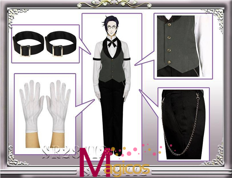 Anime Black Butler Claude Faustus Uniform Suits Cosplay Party - Կարնավալային հագուստները - Լուսանկար 2
