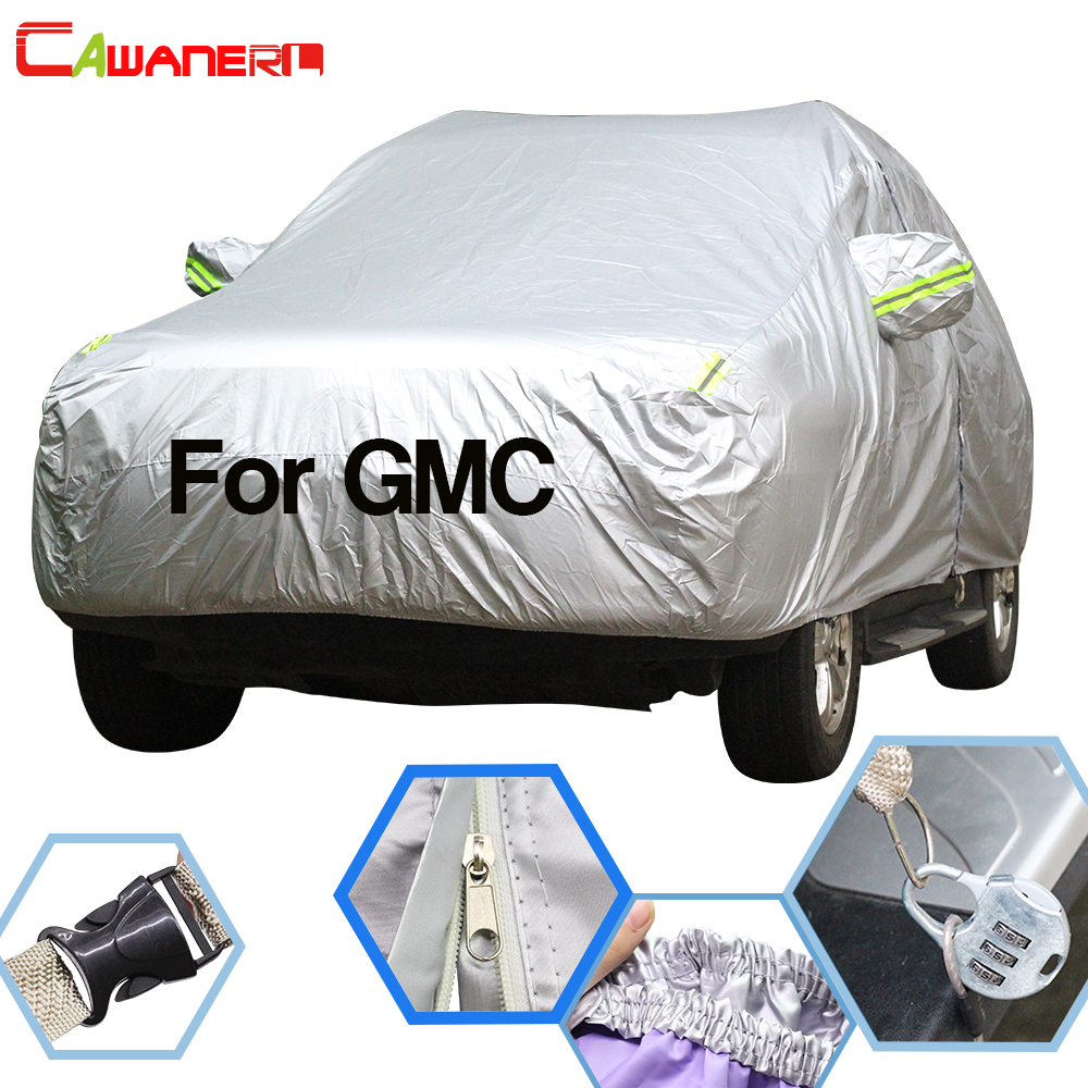 Cawanerl For GMC Jimm Terrain Acadia Envoy Yukon Waterproof Car Cover Sun Snow Rain Protector Full